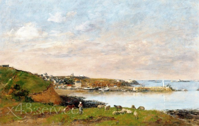 Eugene Bodin - Ansicht von Portrieux - View of Portrieux