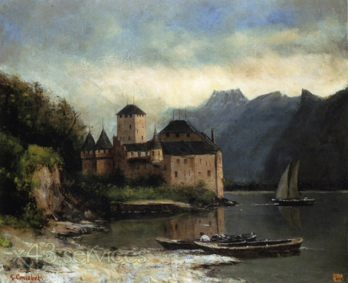 Gustave Courbet - Ansicht vom Chateau de Chillon - View of the Chateau de Chillon