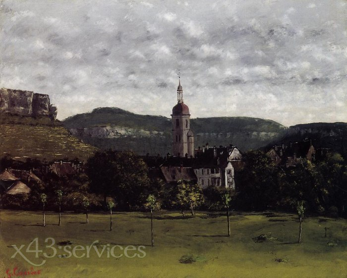 Gustave Courbet - Ansicht von Ornans und seinem Kirchturm - View of Ornans and Its Church Steeple