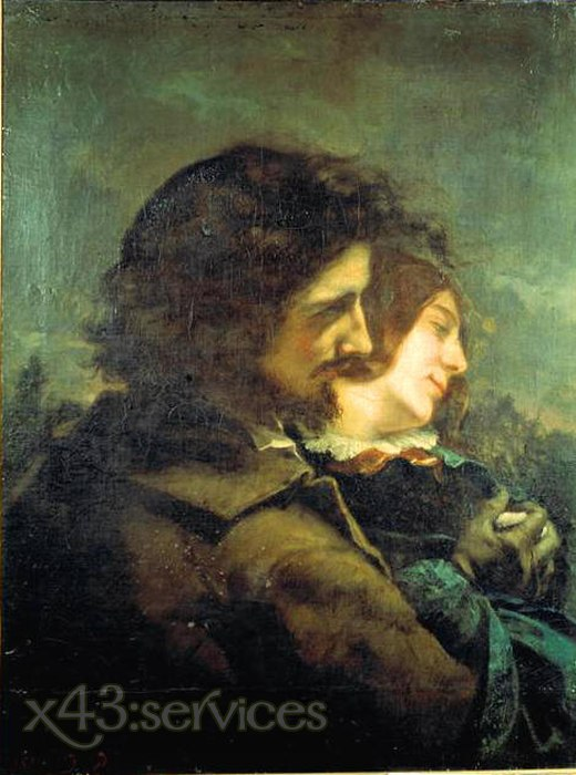 Gustave Courbet - Das glueckliche Liebespaar - The Happy Lovers