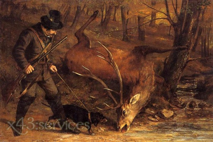 Gustave Courbet - Der deutsche Jaeger - The German Huntsman