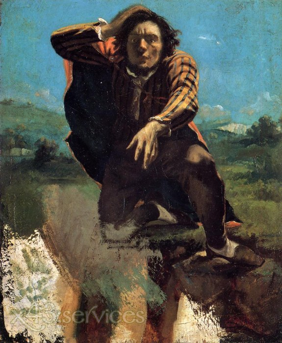 Gustave Courbet - Der hoffnungslose Mann - The Desperate Man