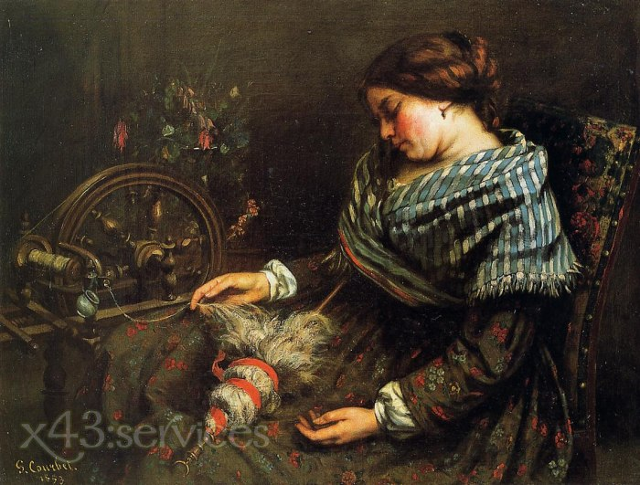 Gustave Courbet - Der schlafende Spinner - The Sleeping Spinner