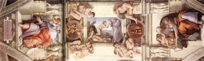 Michelangelo Buonarroti - Das fuenfte Joch der Decke - The fifth bay of the ceiling