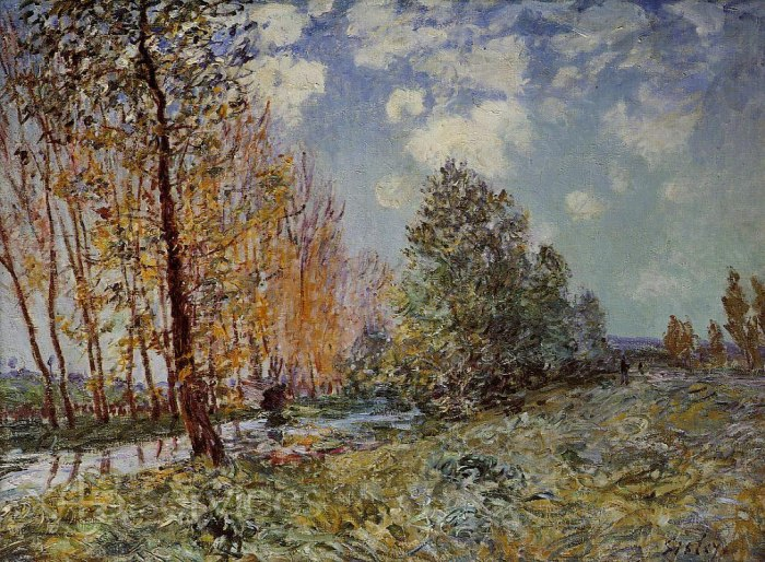 Alfred Arthur Sisley - Am Fluss - By the River