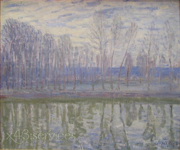 Alfred Arthur Sisley - An den Ufern des Flusses Loing - On the Banks of the River Loing