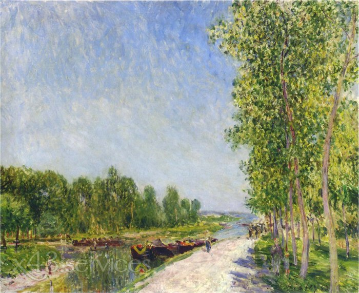 Alfred Arthur Sisley - An den Ufern des Loing Kanals - On the Banks of the Loing Canal