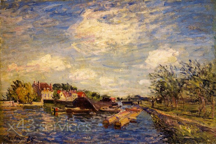 Alfred Arthur Sisley - An der Loing - By the Loing