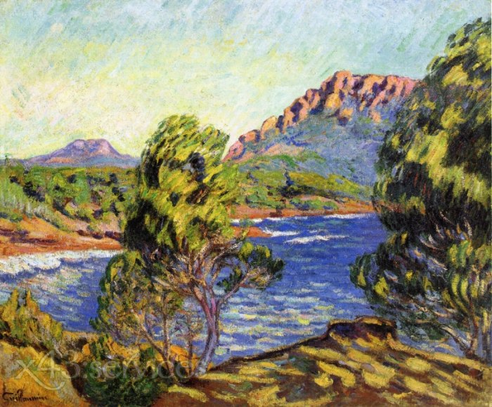 Armand Guillaumin - Agay die Bucht waehrend des Mistral - Agay the Bay during the Mistral