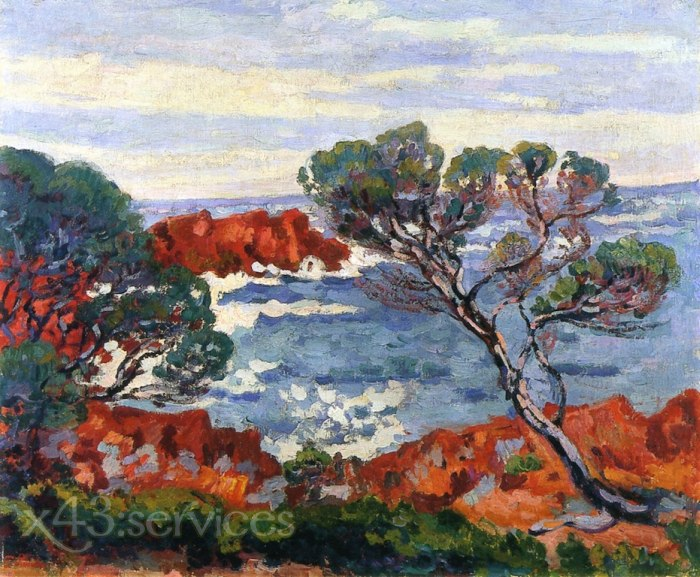 Armand Guillaumin - Agay rote Felsen - Agay Red Rocks