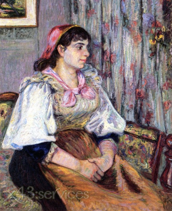 Armand Guillaumin - Das Modell - The Model