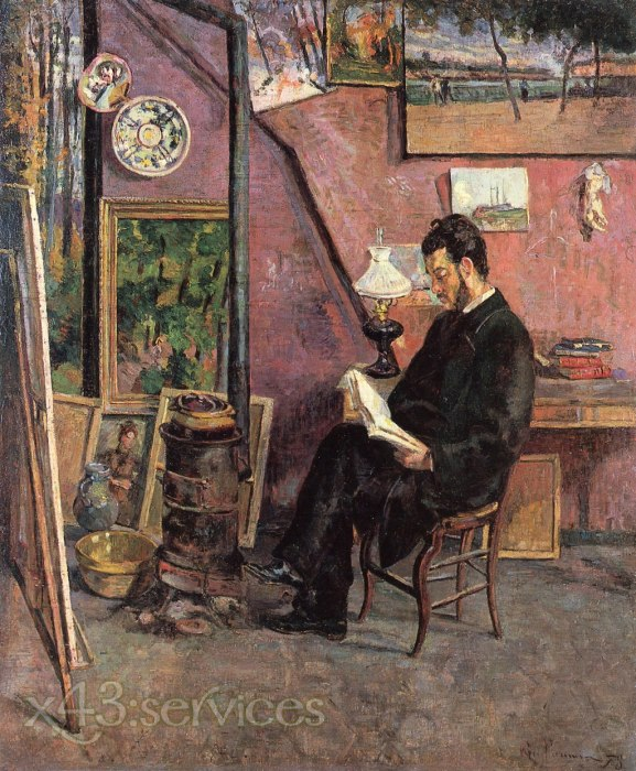 Armand Guillaumin - Doktor Martinez im Studio des Malers - Doctor Martinez in the Painter s Studio