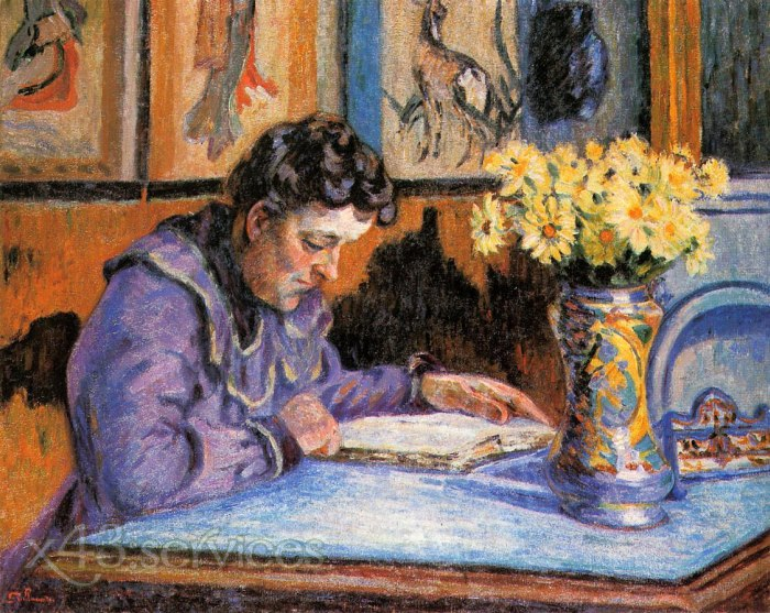 Armand Guillaumin - Frau lesend - Woman Reading