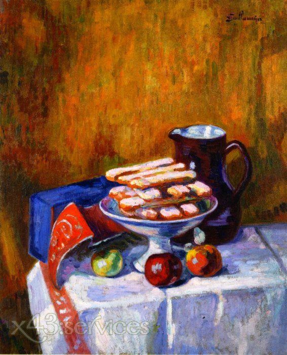 Armand Guillaumin - Stilleben mit Keksen - Still Life with Biscuits