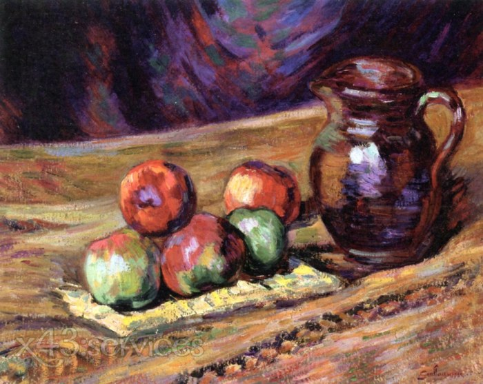 Armand Guillaumin - Stillleben mit Aepfeln - Still LIfe with Apples