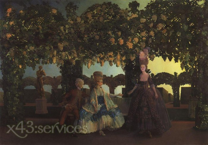 Constantin Andreevich Somov - Abend - Evening