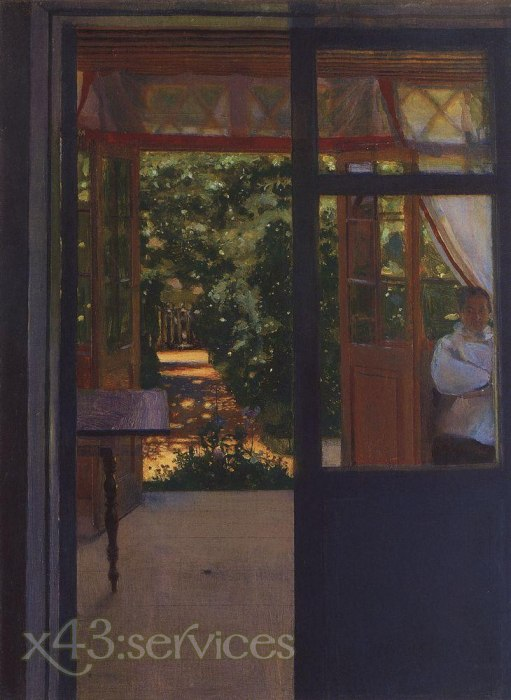 Constantin Andreevich Somov - Auf dem Balkon - On the Balcony