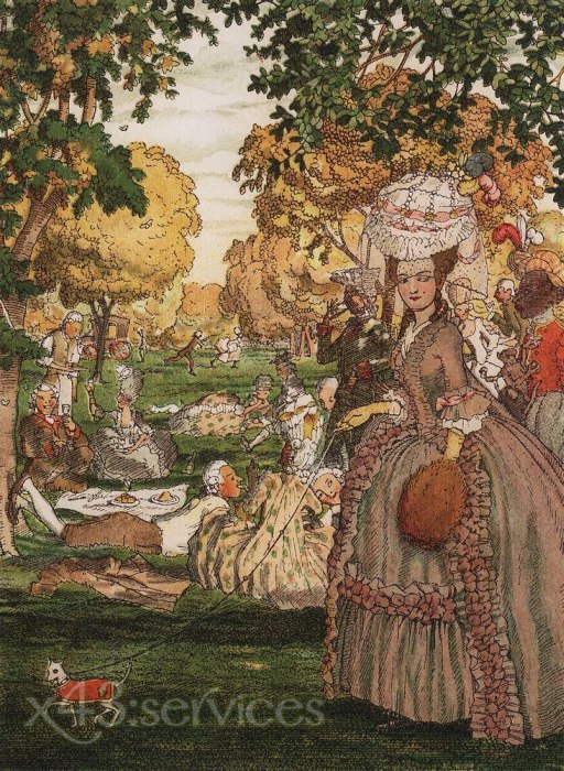 Constantin Andreevich Somov - Buch der Marquise Abbildung - Book of the Marquise Illustration