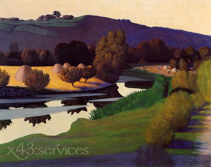 Felix Vallotton - Abend auf der Loire - Evening on the Loire