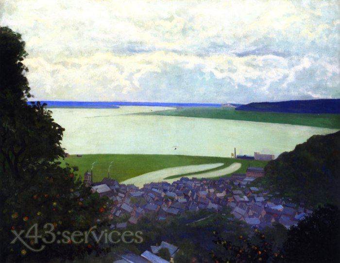 Felix Vallotton - Ansicht von Honfleur Morgen - View of Honfleur Morning