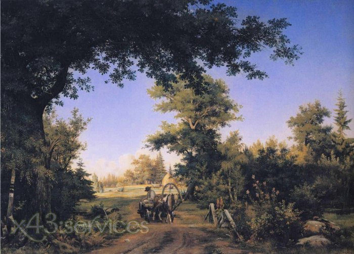 Ivan Ivanovich Shishkin - Ansicht auf den Stadtrand von St Petersburg - View of the Outskirts of St Petersburg