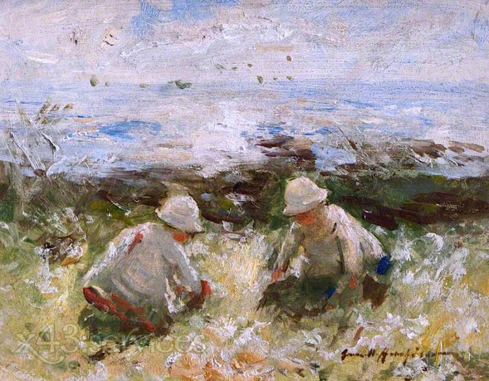 Robert Gemmell Hutchison - Auf den Straussgraesern Carnoustie - On the Bents Carnoustie