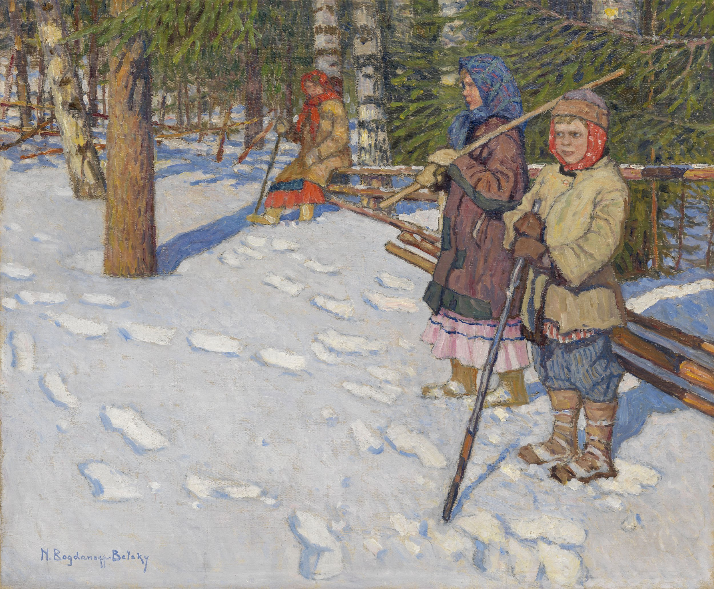 Nikolay Bogdanov-Belsky - Auf dem Weg - On the Raid
