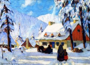 Reproduktion nach Clarence Gagnon - Winter in the Laurentians Quebec