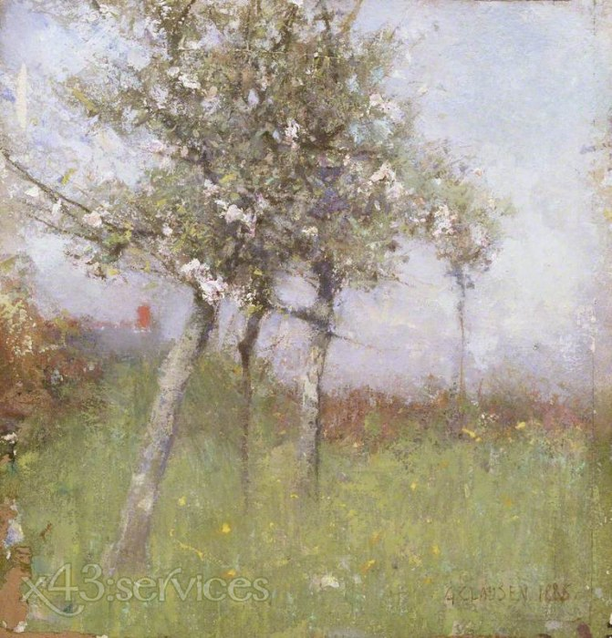 Sir George Clausen - Apfelbluete - Apple Blossom