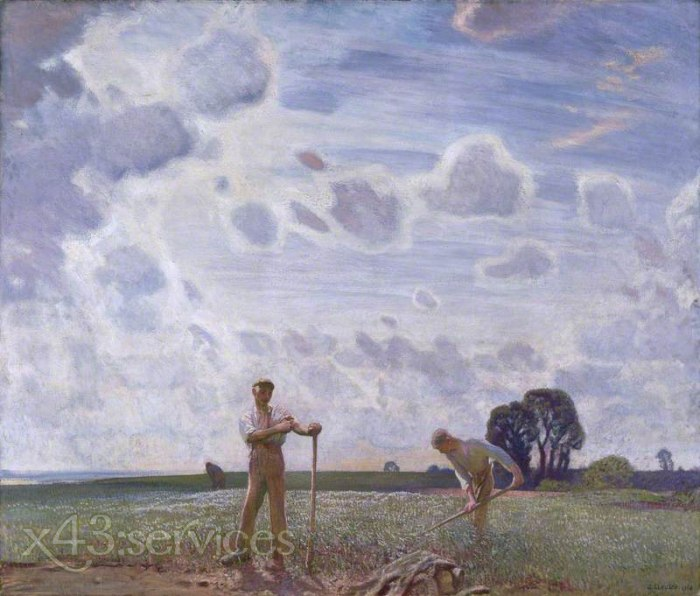 Sir George Clausen - Auf den Feldern im Juni - In the Fields in June