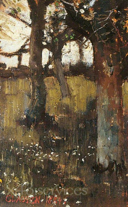 Sir George Clausen - Baeume - Trees