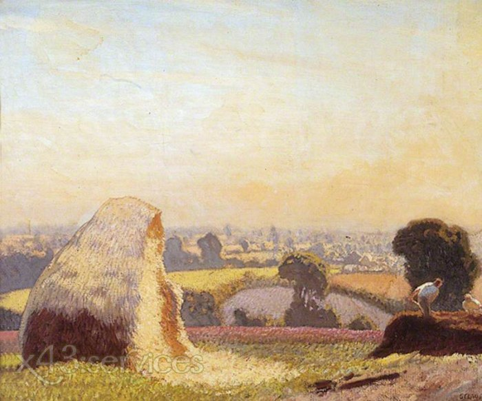 Sir George Clausen - Das Tal - The Valley