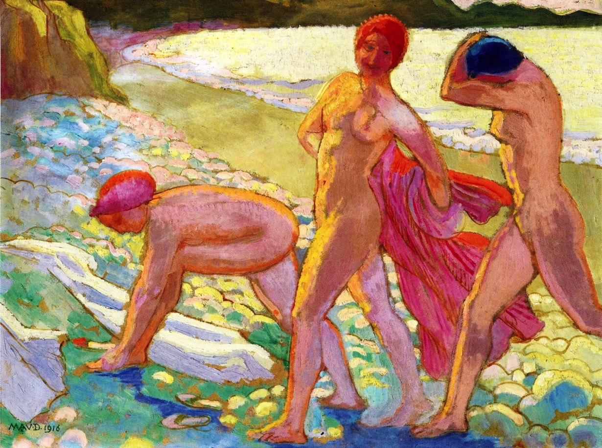 Maurice Denis - Abend am Strand nach dem Baden - Evening on the Beach after Bathing