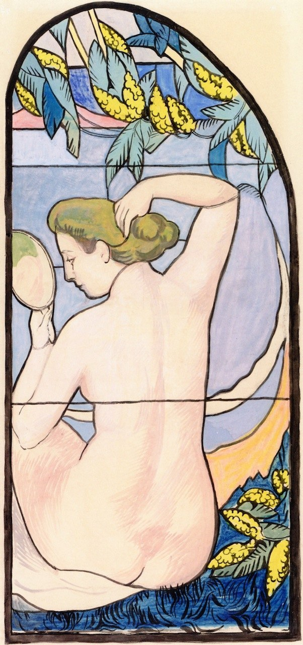Maurice Denis - Akt am Spiegel - Nude at the Mirror