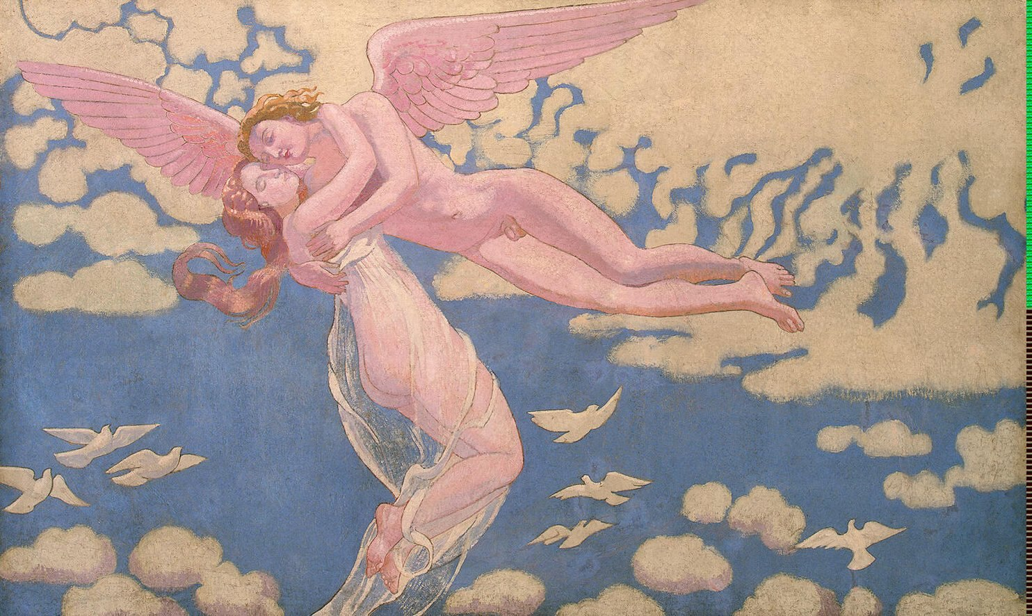 Maurice Denis - Amor tragt Psyche in den Himmel - Cupid Carrying Psyche Up to Heaven