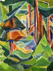 Reproduktion nach Emily Carr - Emily Carr - Waldinneres