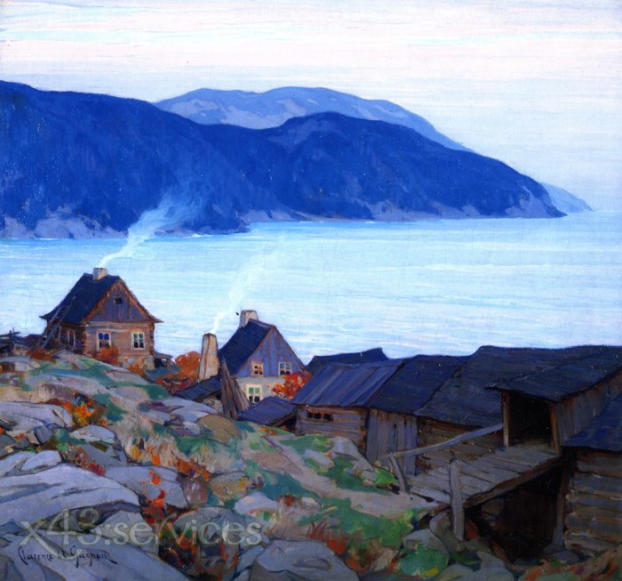 Clarence Gagnon - Abend an der Nordkueste - Evening on the North Shore