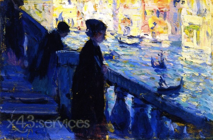 Clarence Gagnon - Am Rialto Venedig - On the Rialto Venice
