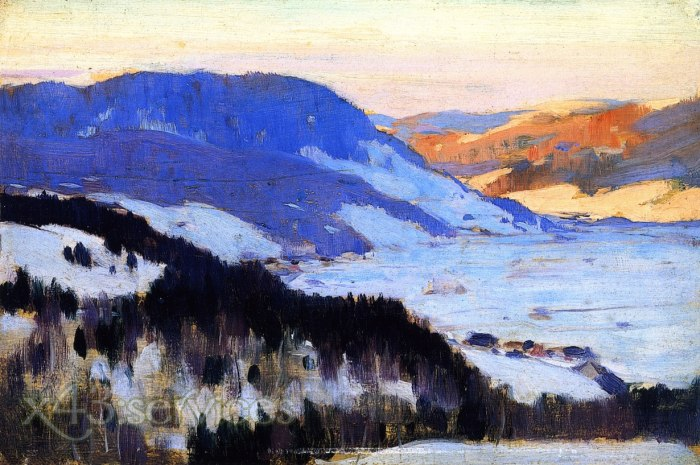 Clarence Gagnon - Blick auf das Tal des Gouffre Charlevoix - Overlooking the Valley of the Gouffre Charlevoix