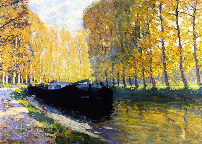 Clarence Gagnon - Canal du Loing