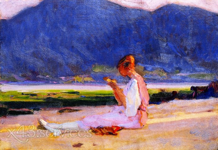 Clarence Gagnon - Die junge Frau des Malers - The Painters Young Wife Baie-Saint-Paul