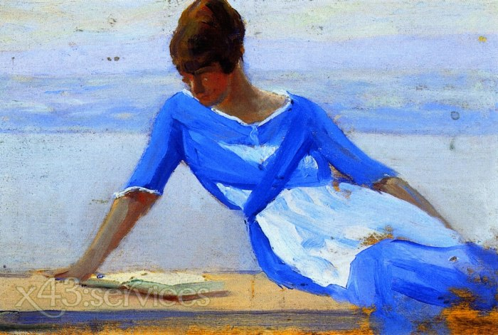Clarence Gagnon - Die junge Frau des Malers - The Painters Young Wife Ile d Orleans