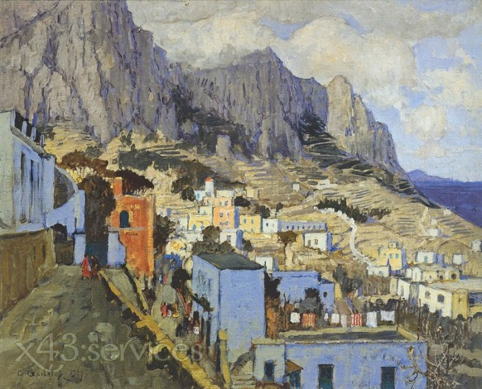 Konstantin Gorbatov - Capri in Winter