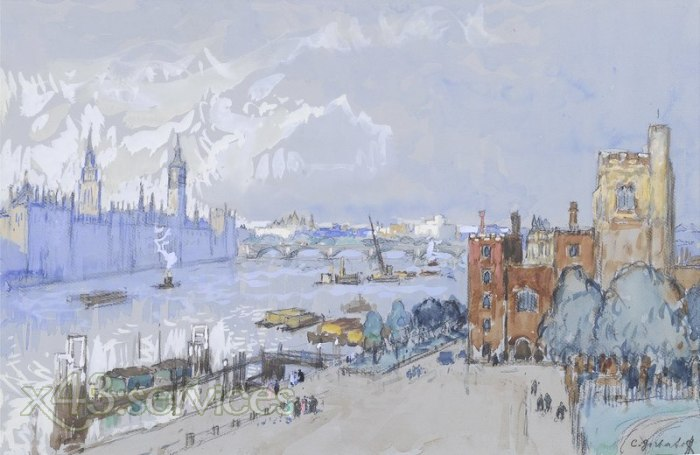 Konstantin Gorbatov - Das Houses of Parliament und Lambeth Palace London