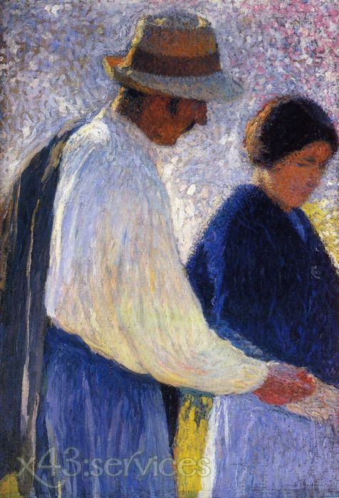 Henri Martin - Das Ehepaar - Studie für Schnitter - The Married Couple - Study for Reapers