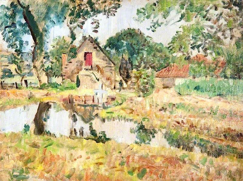 George Leslie Hunter - Alte Muehle Fifeshire - Old Mill Fifeshire