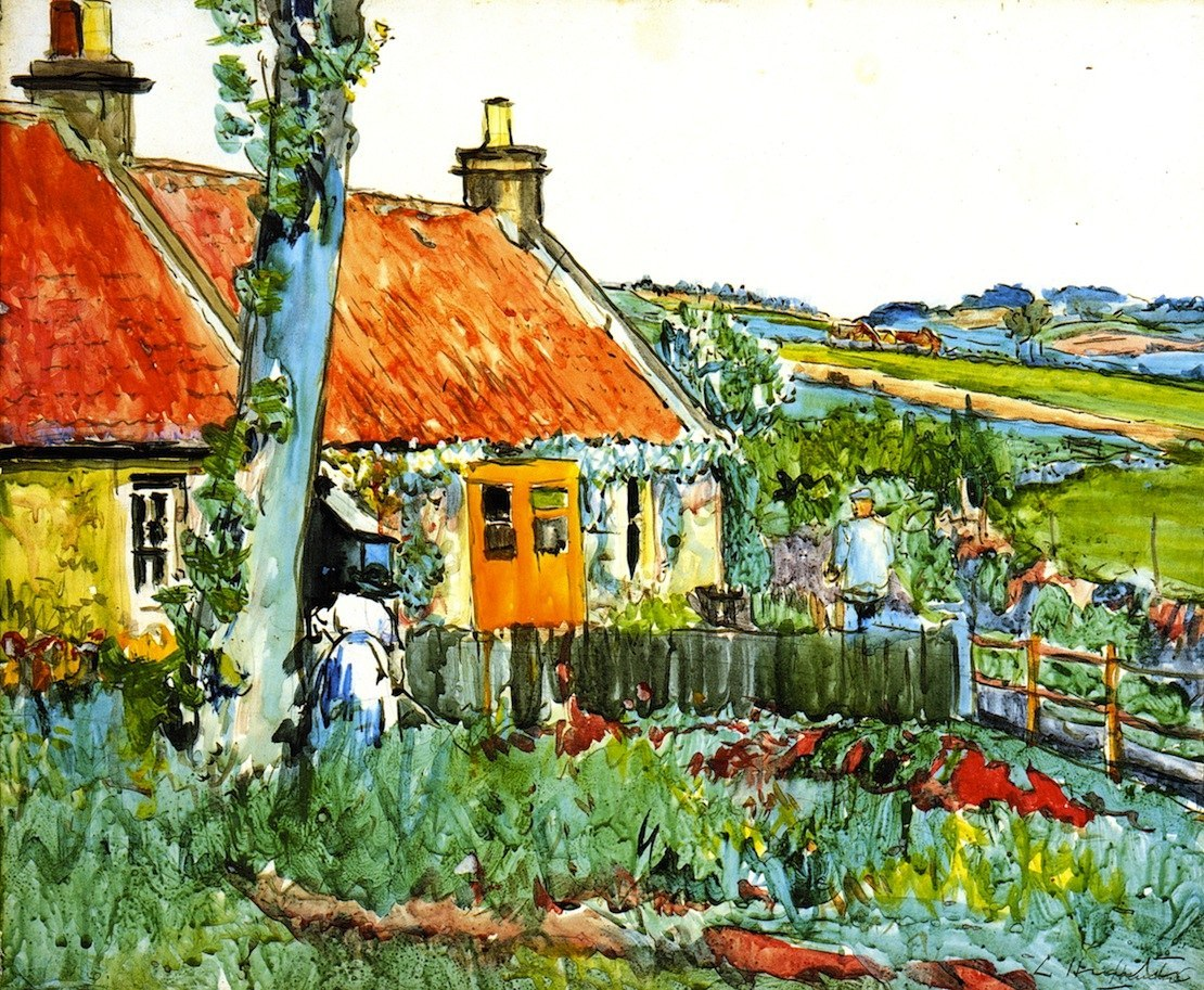 George Leslie Hunter - Cottage in der Naehe von Largo - Cottage near Largo