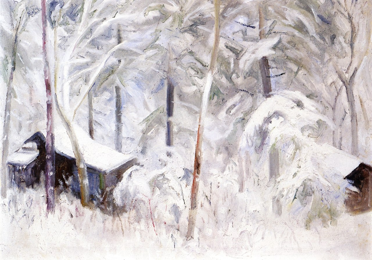 Albert Henry Krehbiel - Frischer tiefer Winter zeigt sich - Fresh Deep Winter Shows