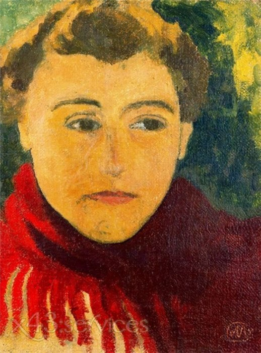 Aristide Maillol - Frau in einem roten Schal - Woman in a Red Shawl