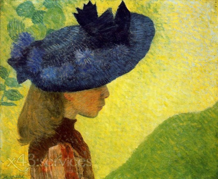 Aristide Maillol - Mademoiselle Feraill in a Blue Hat